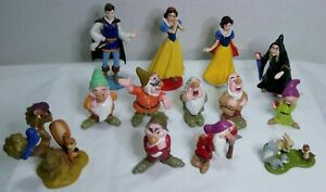 Disney Snow White And The Seven Dwarfs Forest Friends PVC Figures Lot of 13