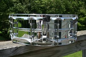 LUDWIG CUSTOM LM400 SNARE DRUM with DDRUM DIOS BULLET LUGS - BEAUTIFUL! LK!