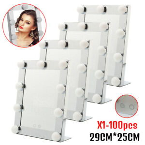 LED Cosmetic Make Up Mirror Vanity Table Hollywood Makeup Mirror LOT 1-100pcs TO