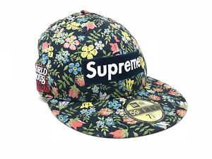 Authentic Supreme×New Era Cap World Famous Tropical Print Size 7 14  57.7cm