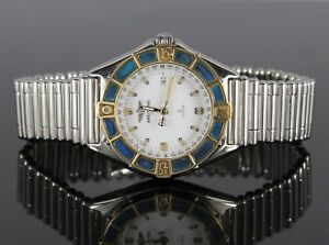 Ladies Breitling J Class 18K Yellow Gold Stainless Steel Bullet Band Wrist Watch