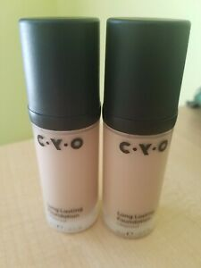 2 NEW - CYO Lifeproof Long Lasting Foundation - Shade 102 - Full Size 1oz  30ml