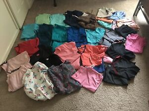 46 Piece Scrub Lot Assorted Colors And Sizes. Pre-Owned.