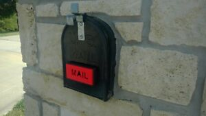Mailbox flag,  Front mount, Great on brick/stone mailbox, Stylish replacement