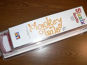 HTF and BRAND NEW! Sizzix Sizzlits Alphabet Die Cut Set MONKEY TAILS Font