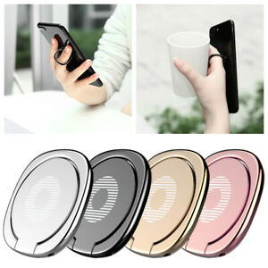 Rotating Magnetic Metal Finger Ring Holder Stand For Cell Phone Tablet iPhone $4.79
