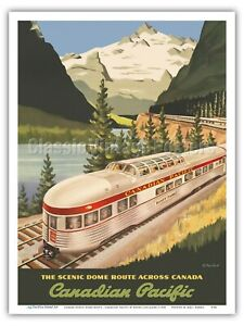 Canada Scenic Route - Canadian Pacific 1955 Vintage Railroad Travel Poster Print