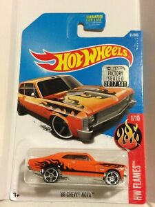 HOT WHEELS 68 CHEVY NOVA HW FLAMES 1/10 2017 FACTORY SEALED SET 61/365