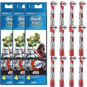 12x Oral-B Stages Kids Star Wars Replacement Heads Childrens Electric Toothbrush