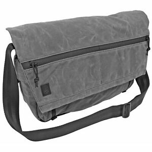 Grey Ghost Precision Wanderer Messenger Bag Charcoal Grey Waxed 20.5