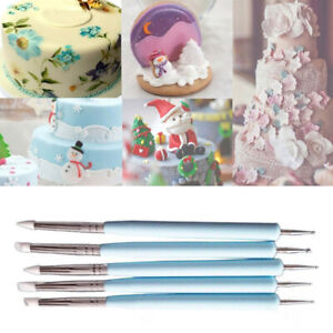 Fondant Painting Carving Silicone Double-head Decorating Pen Cake Brush