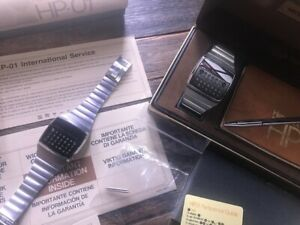 TWO Hewlett Packard HP01 Watch  BEST DEAL ON eBay 1 FULL SET 1 For SPARES