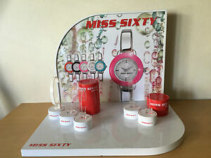 Used in shop Watch Display MISS SIXTY Exhibitor 15 1116X11 38x13in Reversible