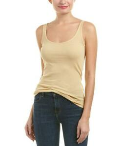 E004 NWT VINCE RIBBED FAVORITE WOMEN TANK TOP SIZE XS, S, M, L  in SAWDUST $65