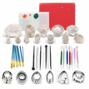 Cake Decorating Tools Kit Set Fondant Silicone Molds Baking Accessories Cakes