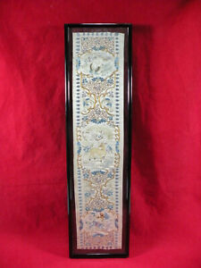 Antique Chinese Silk Embroidery Sleeve Panel From Emperor's Robe Ming Dynasty