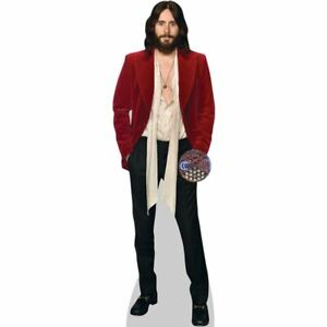 Jared Leto (Red Blazer) Cardboard Cutout (mini size). Standee.