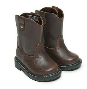Garanimals Infant Toddler Boys Brown Slip on Pull on Boots Shoes: 2 6 $14.99