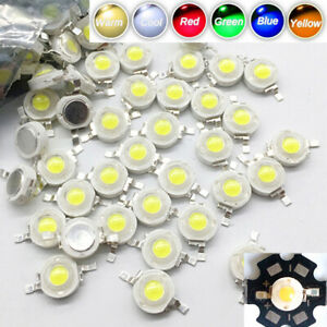10x 50x 100x LED COB Chip LED Bulb With PCB 3W Diodes Chip White Red Blue Yellow
