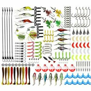 Fishing Lure Kit Baits Tackle Including Crankbaits Spinnerbaits Plastic Worms