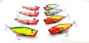 fishing lures technic Bull Dog poppers 65mm 10g x 8 surface topwater GT's tuna