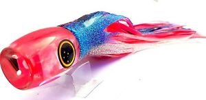 FISHING LURES SCL 12'' GROWLER PINK PILLY PINK HEAD tuna marlin trolling skirt