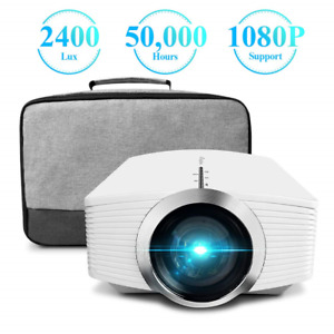 Mini Projector ELEPHAS 2400 Lux Home Theater Video Projector Support 1080P with