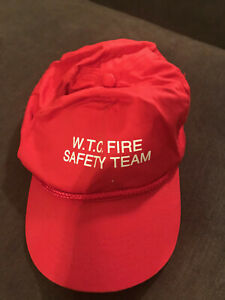 World Trade Center (WTC) Fire Safety Team Snapback Snap Back Hat - Red Vintage