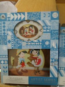 Disney - Pinocchio Sketchbook Ornament & Lithograph - Limited Edition