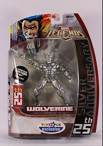 Marvel Legends Wolverine 25th Silver Anniversary Toys R Us Exclusive 2006 $21.99