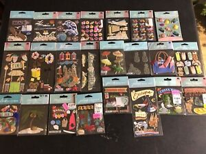 Lot Of 23 Scrapbooking Stickers Jolees Beach Swim Sun Vacation Travel