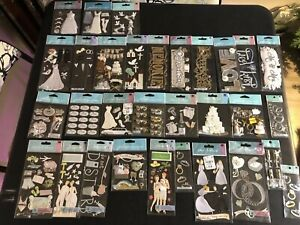 Lot Of 32 Scrapbooking Stickers Jolees Wedding. Honeymoon Rehearsal