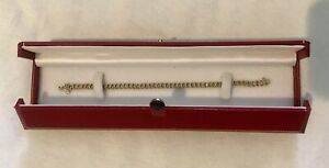"14k Yellow Gold Ladies Diamond Tennis Bracelet 6"" in Original Case."