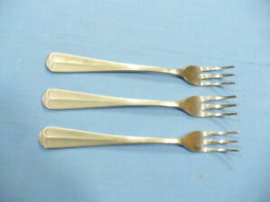 Barclay - Geneve Oyster Bay set of (3) Sea Food Forks 5-1/2
