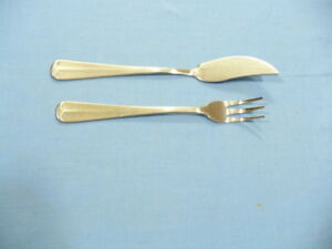 Barclay - Geneve Oyster Bay set of a Sea Food Fork & a Butter Knife