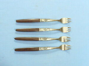 Northland Napa Valley SS set of (4) Sea Food Forks w/ simulated rosewood handle