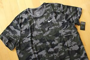 NWT NIKE MEN'S DRI-FIT Big & Tall CAMOUFLAGE Athletic T-Shirt GREEN GRAY BLACK