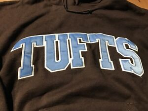 Rare 80s Champion  Tufts University Hoodie  Sweatshirt Medium Vintage Brown Blue