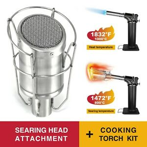 MR.TORCH Butane CookingSearing Grill Torch Sous Vide Kit w Searzall Head Equv.