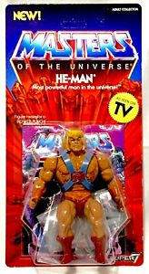 HE-MAN EXCLUSIVE SUPER 7 MOTU VINTAGE MASTERS OF THE UNIVERSE WAVE 1 IN HAND MOC