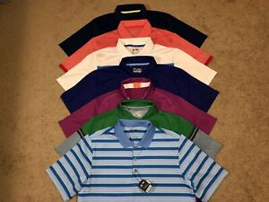 Lot of 7 Men's Under ArmourAdidasNikeOakleyPuma Golf Polo Shirts Size M