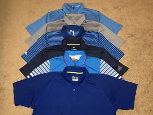 Lot of 6 Men's Under ArmourAdidasNike Tiger WoodsPuma Golf Polo Shirts Size M