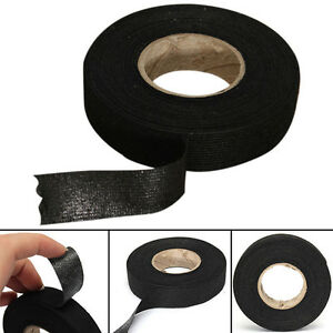 Black Adhesive Cloth Fabric Tape Cable Wire Wrap Cover Protector Tool Accessory
