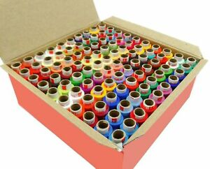 100 Pcs Set Assorted Color Polyester Thread Spool Spun Sewing Supplies Quilting $18.91