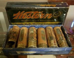 Original Antique western Cartridge salesman sample super X shotshells Ammo Box