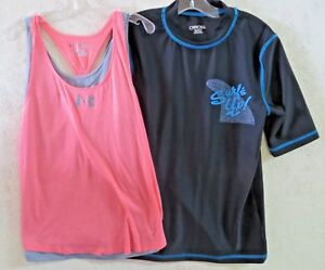 GIRLS CLOTHING LOT Shirts,UNDER ARMOUR,CHEROKEE. 2pcs.Size 16 $7.99