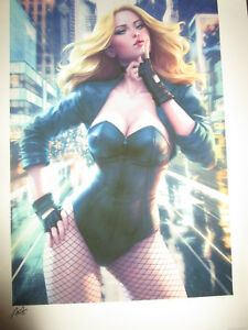 BLACK CANARY Sideshow Premium Art Print #271 Signed ARTGERM Lithograph