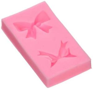 Longzang F0270 Bowknot Fondant Silicone Sugar Mold Small Set of 3