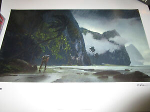 Uncharted 2 3 BEACH Limited Edition Official Print Lithograph #34 SIGNED