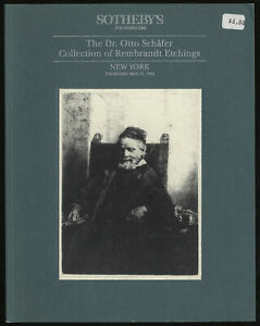 Dr Otto Schäfer Collection of Rembrandt Etchings First Edition 1993 $20.00